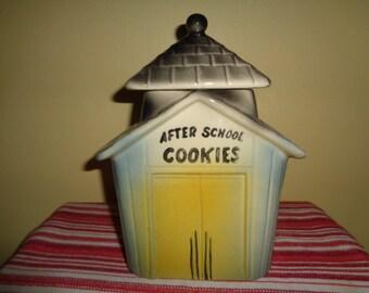 Vintage American Bisque After School Cookies Cookie Jar w/Bell
