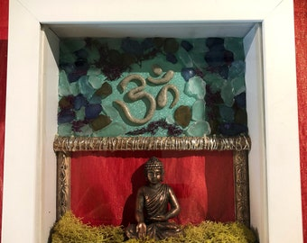 Meditating Buddha Shadow Box Wall Art