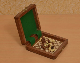 Traveling Book type Magnetic Chess Set 5 x 5 inches from India. SKU: D0102
