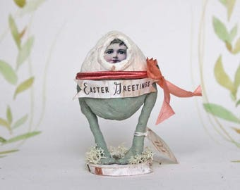 Easter decoration Spun cotton easter egg figurine