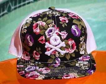 Stangl Bomb Logo Floral Print Snapback Hat (2 Colors)