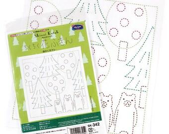 Olympus #SK-342 Japanese Sashiko Sampler Kit – Shinzi Katoh: Bears of the Woods (White)