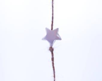 6 white origami stars Garland