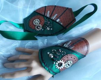 Cuff Bracelets, Fabric Cuffs, Steampunk Cuff Bracelets, Dieselpunk Cuff Bracelets, Gothic Cuff Bracelets, Military, Cosplay, Costume