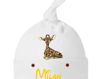 Beanie baby little giraffe bow personalized with name