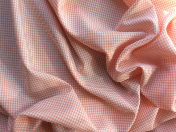 Vichy cotton poplin, salmon no12
