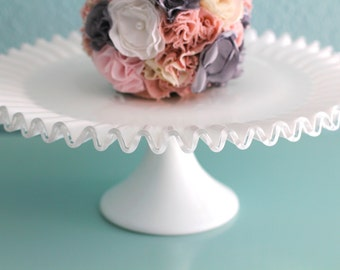 3 Tier Cake Stand Milk Glass Tiered Cupcake Stand Truffle