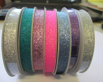 Lot 8 rolls American Crafts 1/4 inch Glitter tape for scrapbooking and paper crafts
