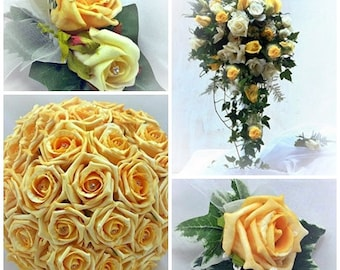 Wedding Flower Package 12 pieces  (Roses, almost any color )