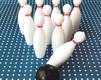 Bowling Pins and Bowling Ball Baking Set - Bowling Party Cupcake & Cake Toppers