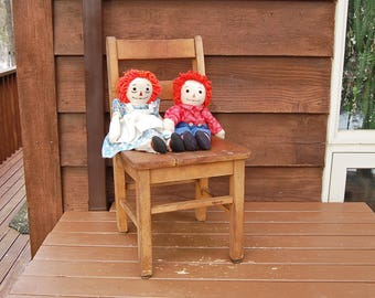 Wooden Mfg Childs Chair, Vintage Maple Childs School Chair, Vintage Schoolhouse Child Chair, Doll Chair, Wooden Chair