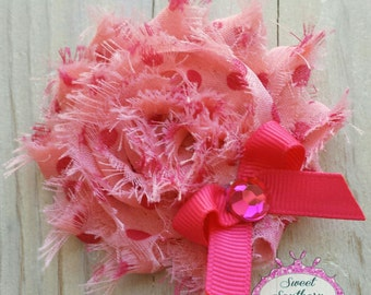 Pink Shabby Clip - Hair Clip