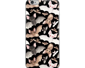 Batty For Bats! iPhone Case- Black