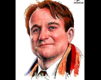 "Print 8x10"" - John Keating - Robin Williams Dead Poets Society Poetry School Teacher Love Carpe Diem Pop Art Lowbrow Movies Mork RIP 80s"