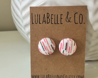 CLEARANCE! Licorice Button Earring