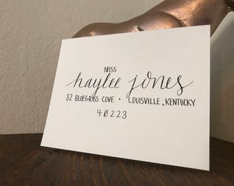 Custom Black Ink Addressed Wedding or Special Event Envelopes