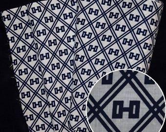 "Japanese Kimono Fabric Bolt Vintage Cotton Yukata Yardage ""Barbells"""