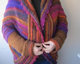 Women's Cardigan/ Owersized cardigan, Hand Crochet Cardigan, Womens Crochet Cardigan, Oversized Sweaters,