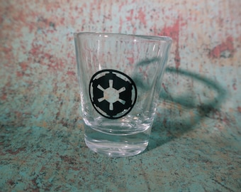 Imperial emblem shot glass