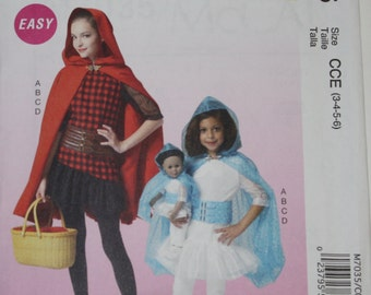 McCalls Costumes Pattern  Size 3 to 6