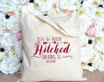 Florida Wedding Welcome Tote - Got Hitched Destination Wedding Welcome Bag - Orlando Wedding Welcome Tote