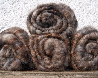 Special Offer. Angora. Merino. Silk. Handcarded Batt For Spinning And Felting. Seidenhase.