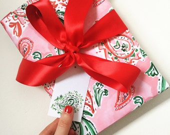 Christmas Wrapping Paper: Festive Paisley