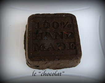 """solid shampoo for brown hair """"chocolate"""" (chestnut) (45,65gr)"""