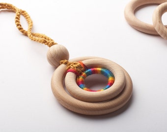 SALE! Organic Nursing Necklace/ ECO-Friendly Baby Teething Necklace/ Wooden development toy,TOP1234