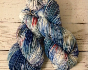 Sport Weight, Hand Dyed, Superwash Merino Wool, 100 Grams, Indie Dyed, Variegated, Ready to Ship,Sock Yarn