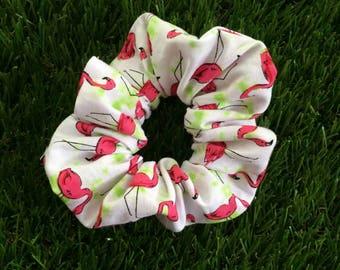 FLAMINGO - Scrunchie - I Scrunchies - Hair elastic band - Hair Tie - hair scrunchie - Ponytail accessories