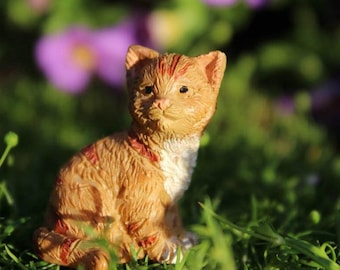 "Buttercup the Kitten (Cat) (1"" Tall) for the Fairy Garden"