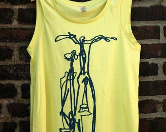 Cruiser Bicycle Cap Sleeve Womens Tank Top