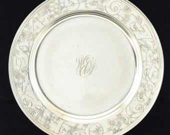 140 Grams! Sterling Silver Victorian Childs Plate Circa 1910 Kerr Hallmark 9870