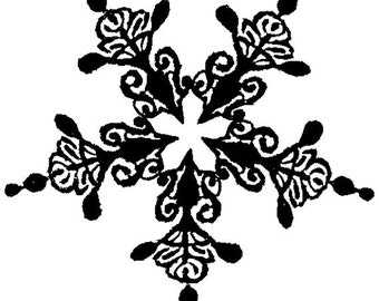 EZ Mounted Rubber Stamp Christmas Snowflake // Snökristall // Altered Art Craft Scrapbooking Cardmaking Collage Supply