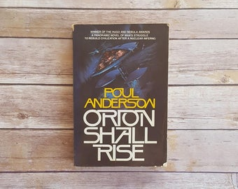 Post Apocalyptic Sci Fi Book Pacific Northwest Story Maurai Series Orion Shall Rise Poul Anderson 80s Science Fiction Nuclear War Large Book
