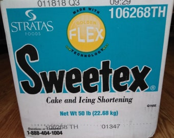 Sweetex Golden Flex High Ratio Vegetable Shortening for Icing Shortening 32oz Jar