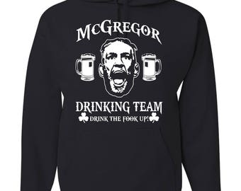Conor McGregor Quote Hoodie MMA UFC 205 Boxing Martial Arts Ireland Fighting Unisex Hooded Top oyAV2