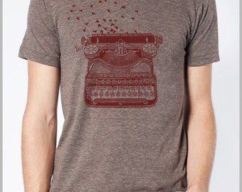 Vintage Typewriter t shirt Men's Women's Unisex American Apparel tshirt 8 Colors  xs, s, m, l, xl Freedom of Speech