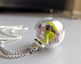 Real flower necklace - Broom