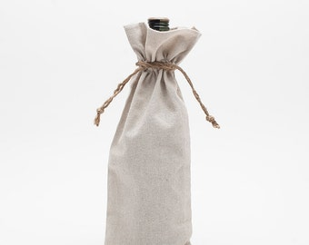 Linen Wine Bag, Wedding Decor, Wedding Wine bag, Wedding Favors