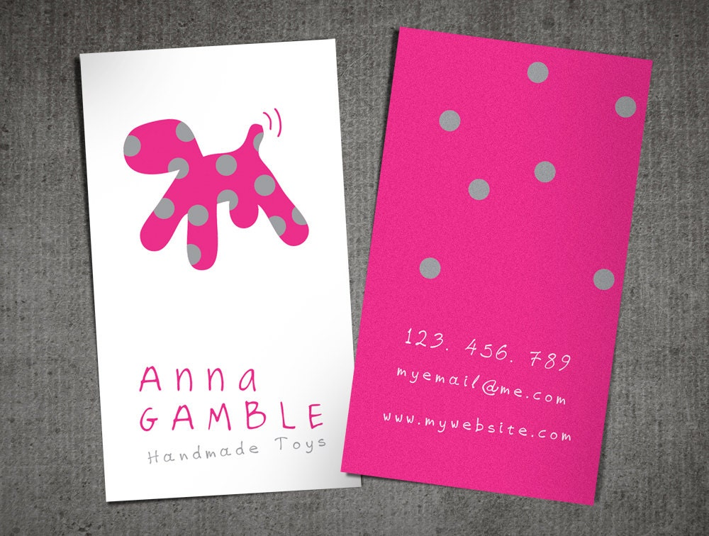 Dog card design / toy maker / pet shop / calling card