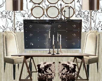 Dining Room Decor |Online Interior Design  | Custom For Your Space | Interior Design | Furniture | Dining Table | Dining Chairs