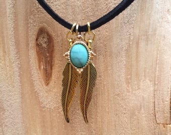 Forest Chic Choker | Feathers & Jewels | Bohemian Style Choker | Handmade With Love