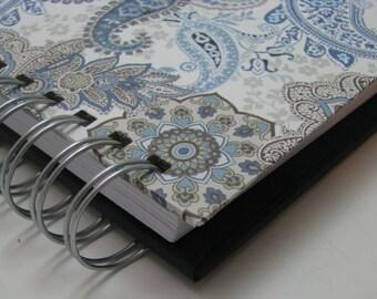 Mini Journal - Gratitude Journal - Pocket Size - Grateful Journal - Daily Gratitude - Thankful Journal - Year Journal - Blue Paisley