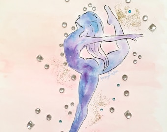 Sparkle Dancer Original Watercolor Painting