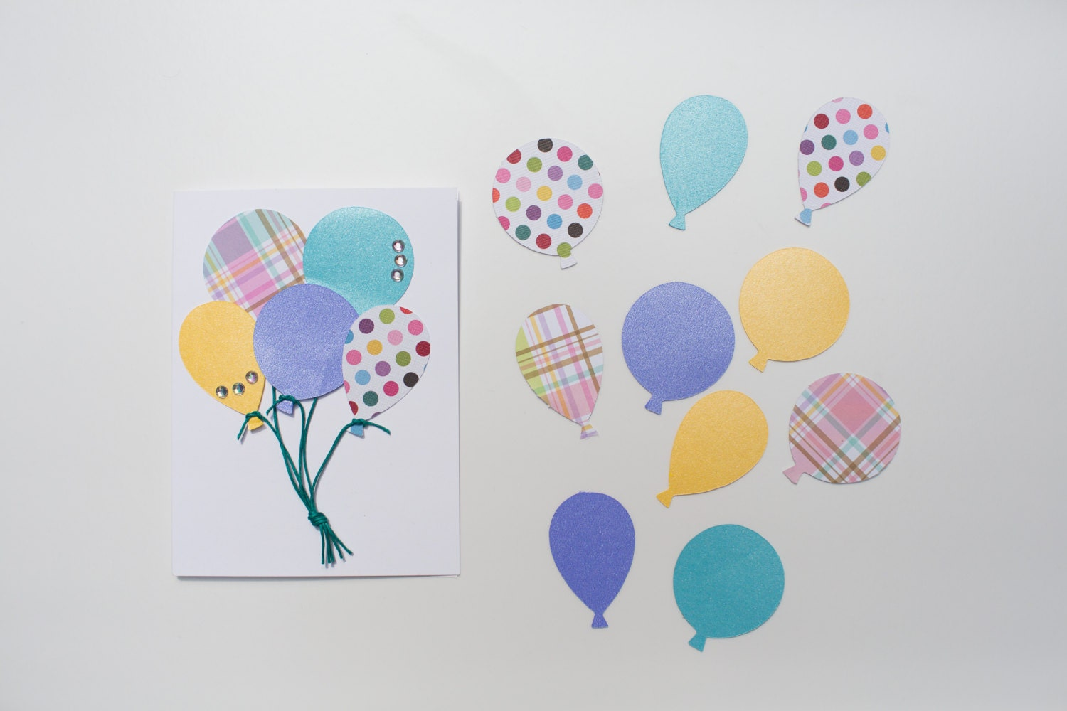 Birthday Card Making Ideas For Kids Part - 49: Birthday Balloons DIY Card Making Set, Kids Craft, Birthday Card Birthday  Party Activity, Greeting Card, Classroom Activity, Family Craft
