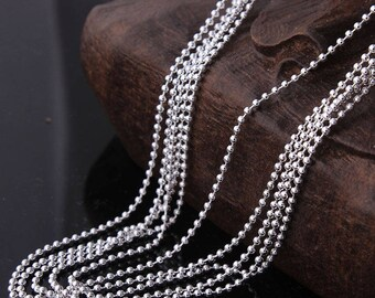 Free Shipping* - 10 pcs Silver Plated Necklace Ball Chain with Lobster Clasp Wholesale Price (SSS1011)