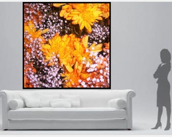 "Autumn 40""x40"" Art Photography on Canvas"