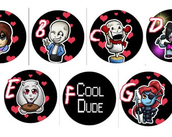 Undertale Buttons - Set or Individual